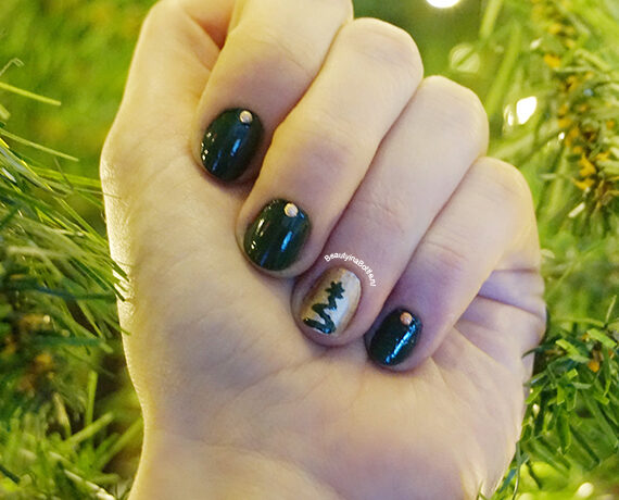 Kerstboom Nail Art