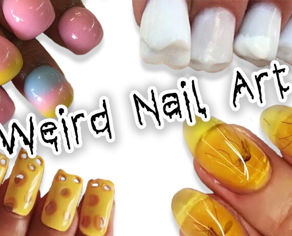 10x Weird Nail Art