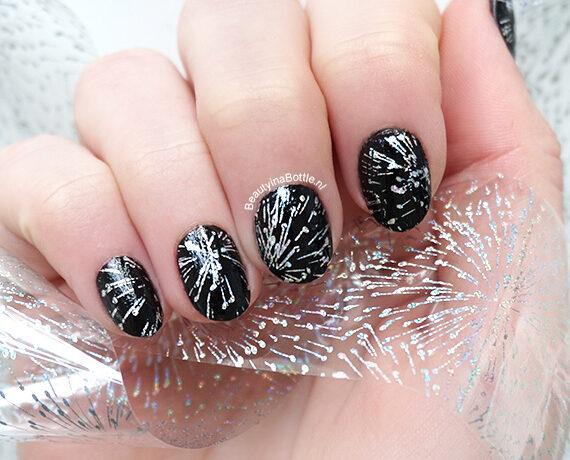 Vuurwerk Folie Nail Art