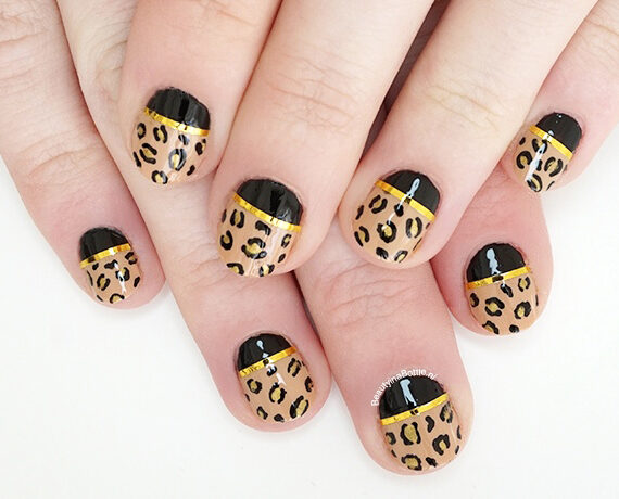 Gouden Panter Nail Art