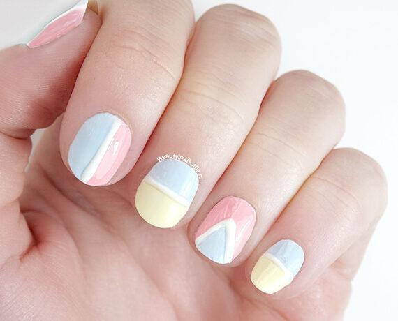 Pastel Pasen Nail Art