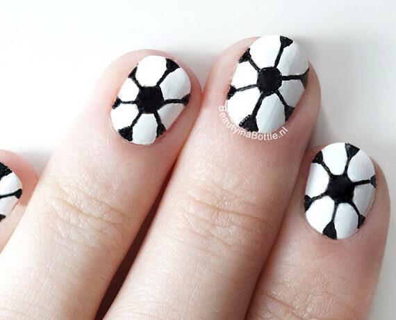 Voetbal Nail Art
