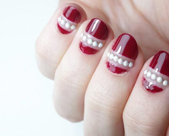 Stenen Streep Nail Art