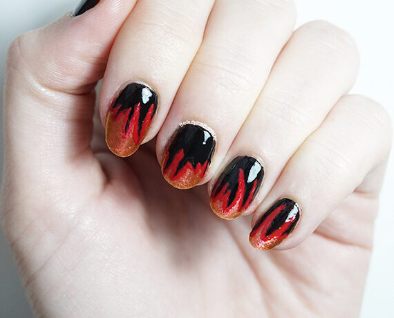 Vlammen Nail Art