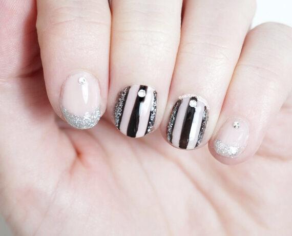 Silver Glitz Nail Art